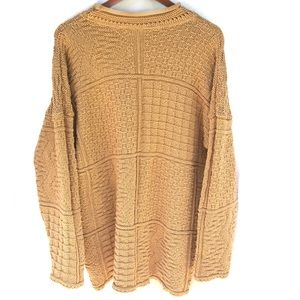 Absolutely Cotton Knitted Squares Sweater Vintage